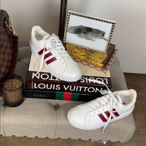 Adidas Cloudfoam Red & White Sneakers